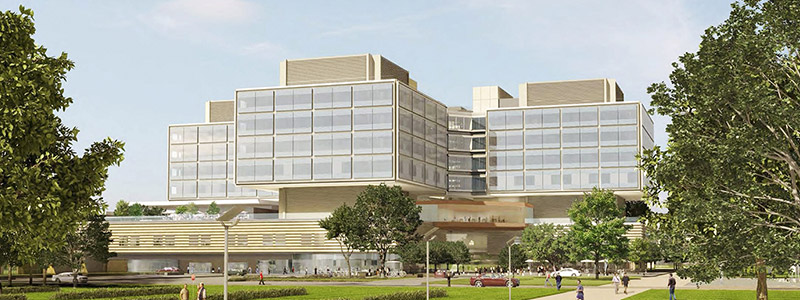 Stanford Hospital Digital rendering.
